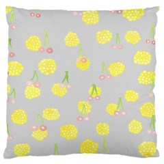 Cute Fruit Cerry Yellow Green Pink Large Cushion Case (two Sides)