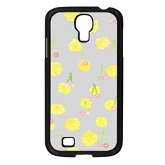 Cute Fruit Cerry Yellow Green Pink Samsung Galaxy S4 I9500/ I9505 Case (black)