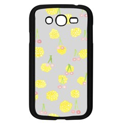 Cute Fruit Cerry Yellow Green Pink Samsung Galaxy Grand Duos I9082 Case (black)