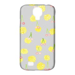 Cute Fruit Cerry Yellow Green Pink Samsung Galaxy S4 Classic Hardshell Case (pc+silicone)
