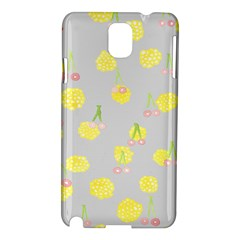Cute Fruit Cerry Yellow Green Pink Samsung Galaxy Note 3 N9005 Hardshell Case