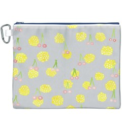 Cute Fruit Cerry Yellow Green Pink Canvas Cosmetic Bag (xxxl)