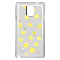 Cute Fruit Cerry Yellow Green Pink Samsung Galaxy Note 4 Case (white)