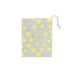 Cute Fruit Cerry Yellow Green Pink Drawstring Pouches (xs)