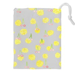 Cute Fruit Cerry Yellow Green Pink Drawstring Pouches (xxl)