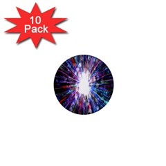 Seamless Animation Of Abstract Colorful Laser Light And Fireworks Rainbow 1  Mini Magnet (10 Pack)