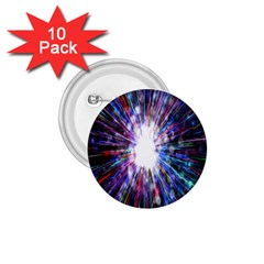 Seamless Animation Of Abstract Colorful Laser Light And Fireworks Rainbow 1 75  Buttons (10 Pack)