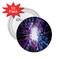 Seamless Animation Of Abstract Colorful Laser Light And Fireworks Rainbow 2 25  Buttons (10 Pack)