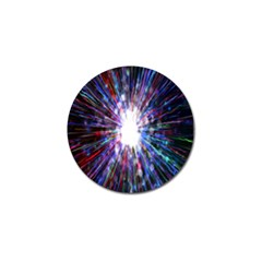 Seamless Animation Of Abstract Colorful Laser Light And Fireworks Rainbow Golf Ball Marker (10 Pack)