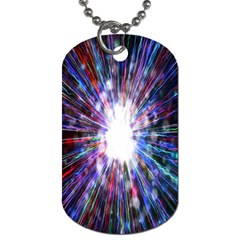 Seamless Animation Of Abstract Colorful Laser Light And Fireworks Rainbow Dog Tag (two Sides)