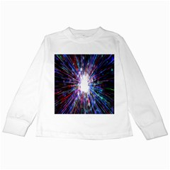 Seamless Animation Of Abstract Colorful Laser Light And Fireworks Rainbow Kids Long Sleeve T Shirts