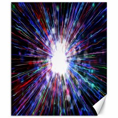 Seamless Animation Of Abstract Colorful Laser Light And Fireworks Rainbow Canvas 8  X 10