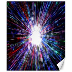 Seamless Animation Of Abstract Colorful Laser Light And Fireworks Rainbow Canvas 20  X 24