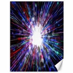 Seamless Animation Of Abstract Colorful Laser Light And Fireworks Rainbow Canvas 36  X 48