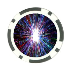 Seamless Animation Of Abstract Colorful Laser Light And Fireworks Rainbow Poker Chip Card Guard