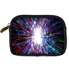 Seamless Animation Of Abstract Colorful Laser Light And Fireworks Rainbow Digital Camera Cases