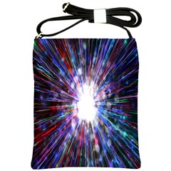 Seamless Animation Of Abstract Colorful Laser Light And Fireworks Rainbow Shoulder Sling Bags