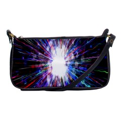 Seamless Animation Of Abstract Colorful Laser Light And Fireworks Rainbow Shoulder Clutch Bags