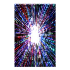 Seamless Animation Of Abstract Colorful Laser Light And Fireworks Rainbow Shower Curtain 48  X 72  (small)
