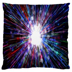 Seamless Animation Of Abstract Colorful Laser Light And Fireworks Rainbow Large Cushion Case (one Side)