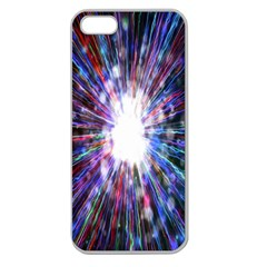 Seamless Animation Of Abstract Colorful Laser Light And Fireworks Rainbow Apple Seamless Iphone 5 Case (clear)