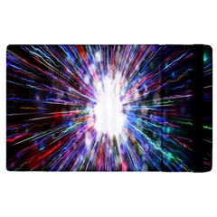 Seamless Animation Of Abstract Colorful Laser Light And Fireworks Rainbow Apple Ipad 2 Flip Case