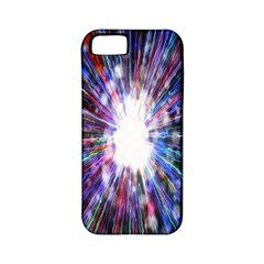 Seamless Animation Of Abstract Colorful Laser Light And Fireworks Rainbow Apple Iphone 5 Classic Hardshell Case (pc+silicone)