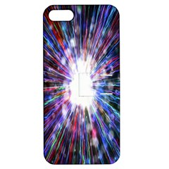 Seamless Animation Of Abstract Colorful Laser Light And Fireworks Rainbow Apple Iphone 5 Hardshell Case With Stand