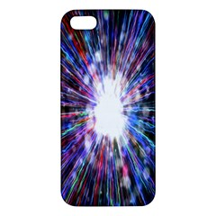 Seamless Animation Of Abstract Colorful Laser Light And Fireworks Rainbow Apple Iphone 5 Premium Hardshell Case
