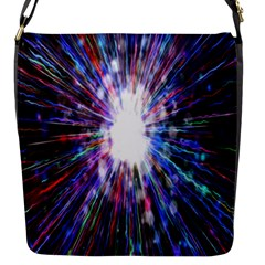 Seamless Animation Of Abstract Colorful Laser Light And Fireworks Rainbow Flap Messenger Bag (s)