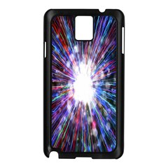 Seamless Animation Of Abstract Colorful Laser Light And Fireworks Rainbow Samsung Galaxy Note 3 N9005 Case (black)