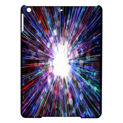Seamless Animation Of Abstract Colorful Laser Light And Fireworks Rainbow Ipad Air Hardshell Cases