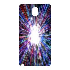 Seamless Animation Of Abstract Colorful Laser Light And Fireworks Rainbow Samsung Galaxy Note 3 N9005 Hardshell Back Case