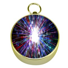 Seamless Animation Of Abstract Colorful Laser Light And Fireworks Rainbow Gold Compasses
