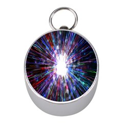 Seamless Animation Of Abstract Colorful Laser Light And Fireworks Rainbow Mini Silver Compasses
