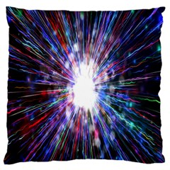 Seamless Animation Of Abstract Colorful Laser Light And Fireworks Rainbow Standard Flano Cushion Case (one Side)
