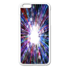 Seamless Animation Of Abstract Colorful Laser Light And Fireworks Rainbow Apple Iphone 6 Plus/6s Plus Enamel White Case