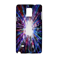 Seamless Animation Of Abstract Colorful Laser Light And Fireworks Rainbow Samsung Galaxy Note 4 Hardshell Case