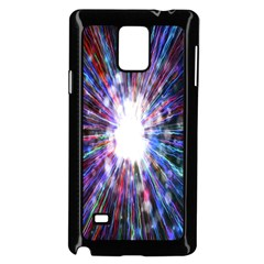 Seamless Animation Of Abstract Colorful Laser Light And Fireworks Rainbow Samsung Galaxy Note 4 Case (black)