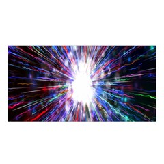 Seamless Animation Of Abstract Colorful Laser Light And Fireworks Rainbow Satin Shawl