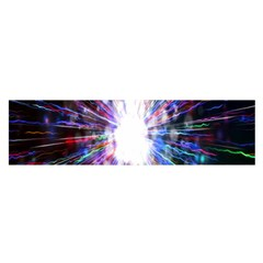 Seamless Animation Of Abstract Colorful Laser Light And Fireworks Rainbow Satin Scarf (oblong)