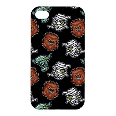Pattern Halloween Werewolf Mummy Vampire Icreate Apple Iphone 4/4s Premium Hardshell Case