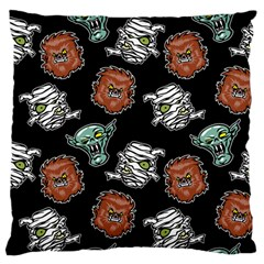 Pattern Halloween Werewolf Mummy Vampire Icreate Large Cushion Case (one Side)