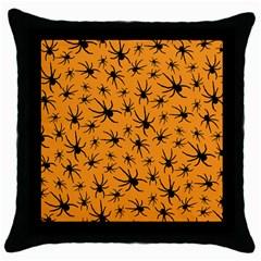 Pattern Halloween Black Spider Icreate Throw Pillow Case (black)
