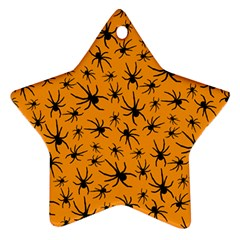 Pattern Halloween Black Spider Icreate Star Ornament (two Sides)