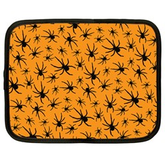 Pattern Halloween Black Spider Icreate Netbook Case (large)