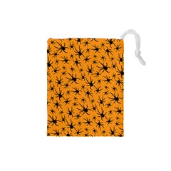 Pattern Halloween Black Spider Icreate Drawstring Pouches (small)