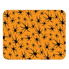 Pattern Halloween Black Spider Icreate Double Sided Flano Blanket (large)