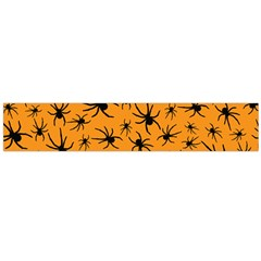 Pattern Halloween Black Spider Icreate Flano Scarf (large)