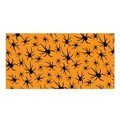 Pattern Halloween Black Spider Icreate Satin Shawl